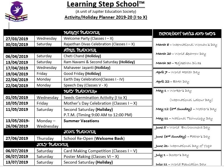 activity planner 1 to 10th 1